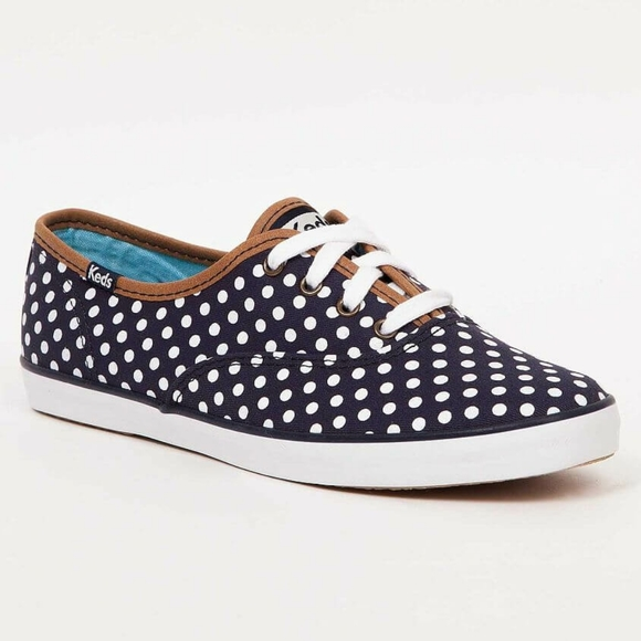 Keds Polka Dot & Vegan Leather Trim Sneakers